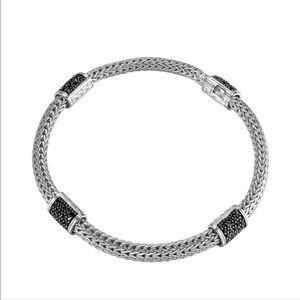 John Hardy 4-Station Black Sapphire Bracelet